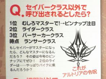 月刊ニュータイプ 2012年 6月号 Fate関連 (3)