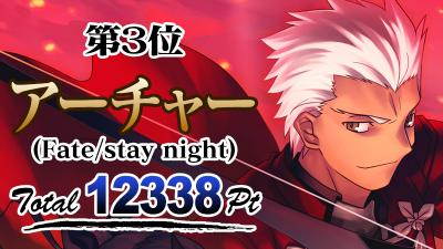 3位 アーチャー(Fatestay night)
